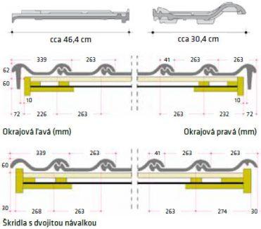Technický rez keramickej strešnej krytiny Röben Monza plus