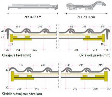 Technický rez keramickej strešnej krytiny Röben Piemont